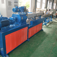 Lab use PE+Caco3 filler masterbatch making twin screw extruder