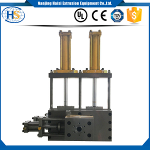 Duplex working position non-stop screen changer die face