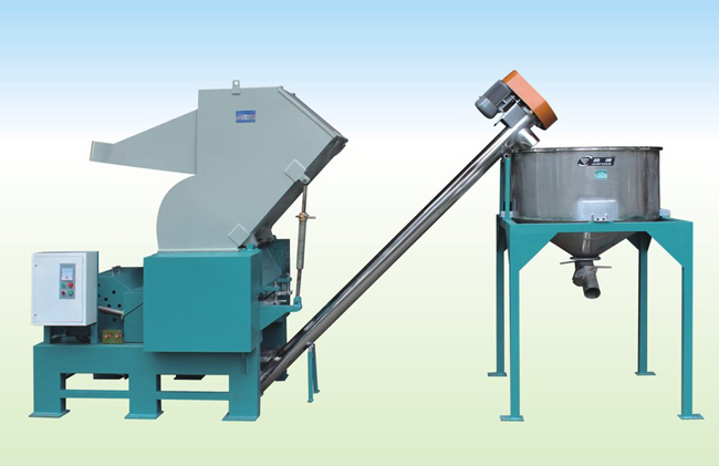 crusher with screw conveyor
